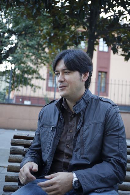 Borja Sánchez, en un momento de la entrevista