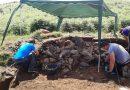San Martín descubre un túmulo del Neolítico en la campa de L'Españal en La Casilla