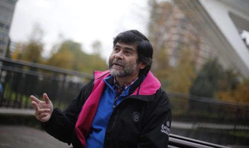 Ismael Huerta en un momento de la entrevista