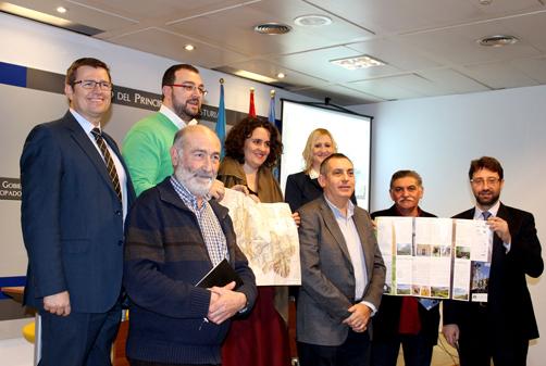 Presentación del mapa turístico del Paisaje Protegido de las Cuencas Mineras