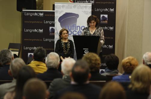 Discurso de Rosa Roces durante el acto de disolución de la Asociación de Amigos de Rufino Roces en Langrehotel