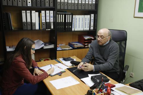 Julio Cepedal en un momento de la entrevista