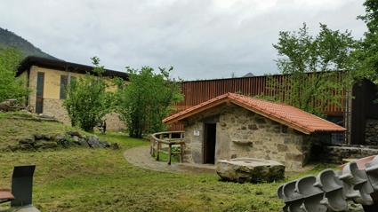 Molino de agua dentro de las instalaciones de la Casa del Agua de Rioseco