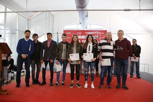 Atletas premiados en la gala de los premios del deporte de San Martín.