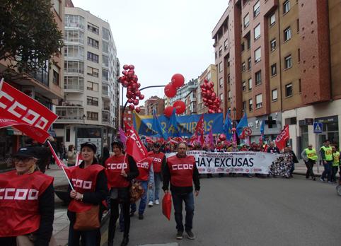 Manifestación del 1 de Mayo, Día del Trabajador celebrada en Avilés