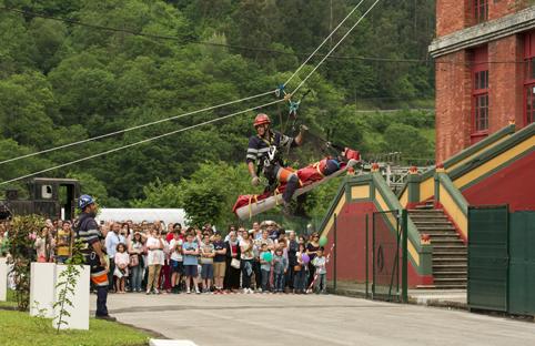 Simulacro de rescate en la I edicion de la Feria de Turismo Minero el pasado año