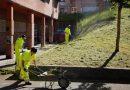 El programa de empleo Actívate actúa en el mantenimiento de jardines y montes de San Martín