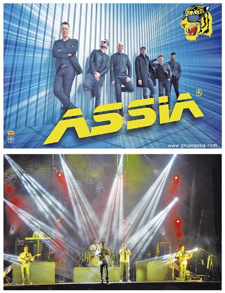 Assia (arriba) y Versión Original, dos de las orquestas que actuarán durante los festejos