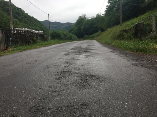 Estado de la carretera LV-8 de San Pedro a El Meruxal