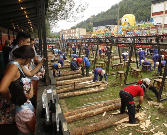 Concurso Nacional de Entibadores Mineros, uno de los atractivos de las fiestas de Santiago