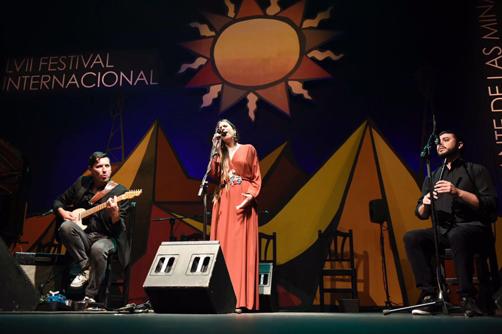Actuación de Marisa Valle Roso en el Festival Internacional de Cante de las Minas de La Unión (Murcia).