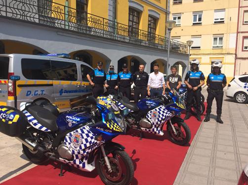 Presentación de las nuevas motos con las que cuenta la Policía Local de San Martín.