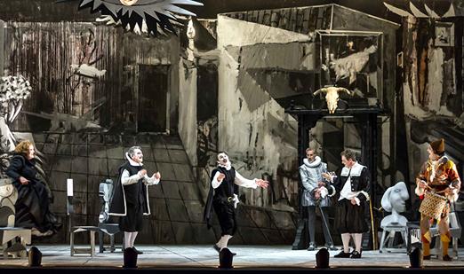Representación de la obra 'El retablo de las maravillas' de Morfeo Teatro.