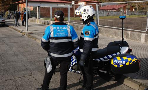Agentes de la Policía Local de San Martín.