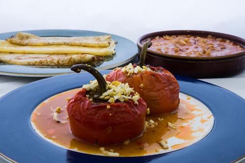 Menú de las Jornadas Gastronómicas de los Pimientos Rellenos.