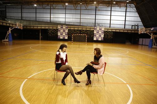 Un momento de entrevista a Marisa Valle Roso en el  centro deportivo Juan Carlos Beiro.