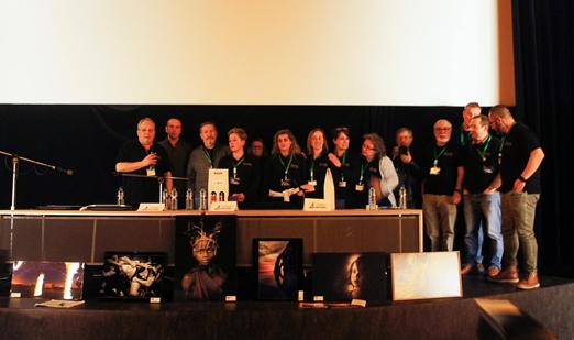 Fotógrafos participantes en el congreso Éxodos celebrado en Langreo.