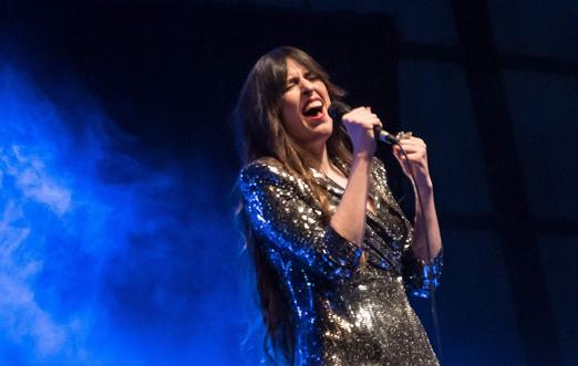 Marisa Valle Roso durante su concierto en La Felguera. Foto: Ana Isabel Jambrina