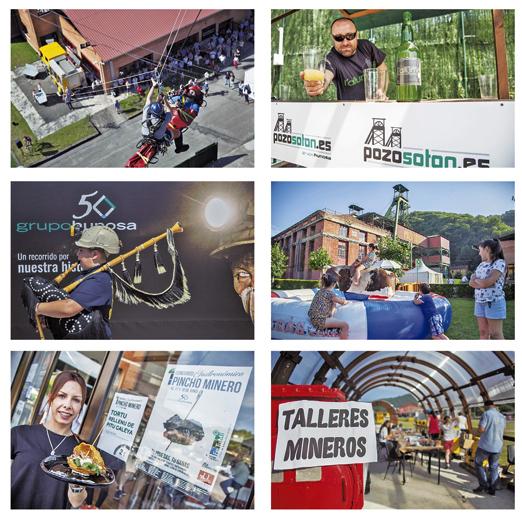 Imágenes de algunas de las actividades que se desarrollaron durante la Feria de Turismo Minero e Industrial en 2017.