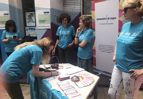 Presentación de la campaña contra la violencia machista puesta en marcha por el Ayuntamiento de Langreo.