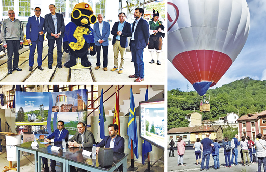 Imágenes de alguno de los actos que se desarrollaron durante el 5º aniversario del Ecomuseo Minero Valle de Samuño.