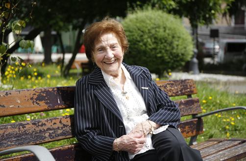 Ángeles Flórez, en un momento de la entrevista.