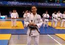 María Hernández, campeona cadete de Asturias de judo