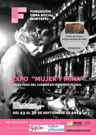 mujer y mina, exposicion, gijon, mineria, asturias