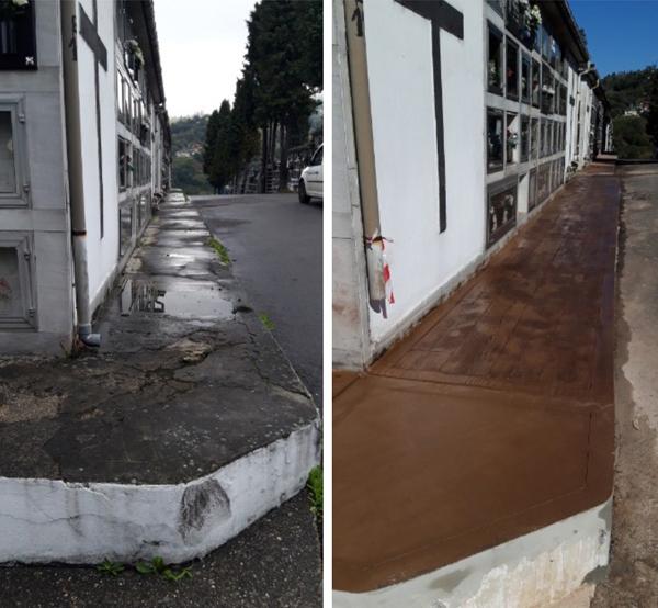 Obras de mejora el el cementerio de Ciaño.