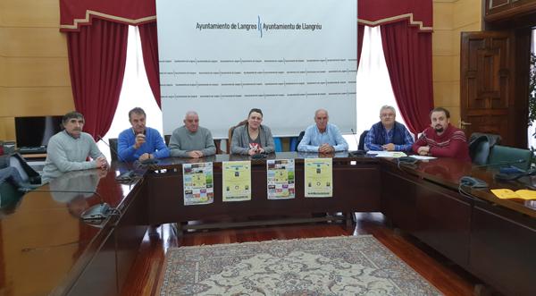 Presentación del concurso en el ayuntamiento de Langreo