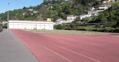 Pista de atletismo de El Entrego.