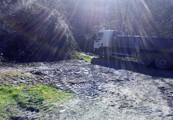 El Corbero una vez erradicado el basurero y limpiada la zona.