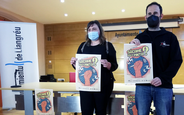 Presentación de la V Edición de 'Sácame pola pinta' en el ayuntamiento de Langreo.