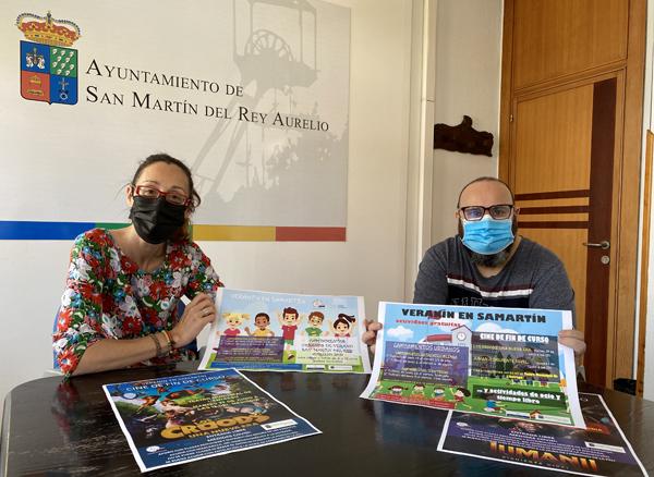 """Presentación del programa de ocio infantil """"El veranín en Samartín""""."""