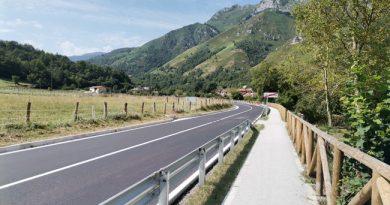 Carretera SC-2 a la altura de La Polina.