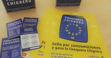 Diferentes piezas de la campaña Pasaporte Chigreru.