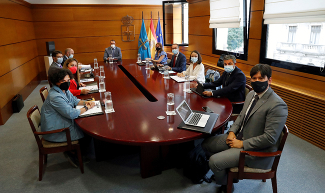 Reunión del Consejo de Gobierno del Principado de Asturias.